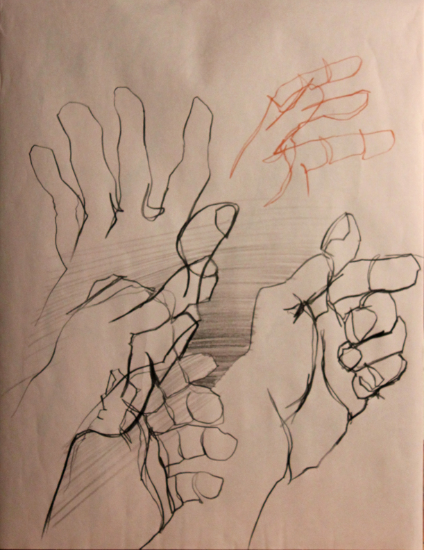 building hands poses methodology of visualization
